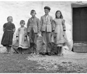 Inishmaan, Aran Islands Kinder altes Foto, Inselreise