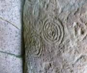 celtic Spiral, graveyard, Kileany Aran